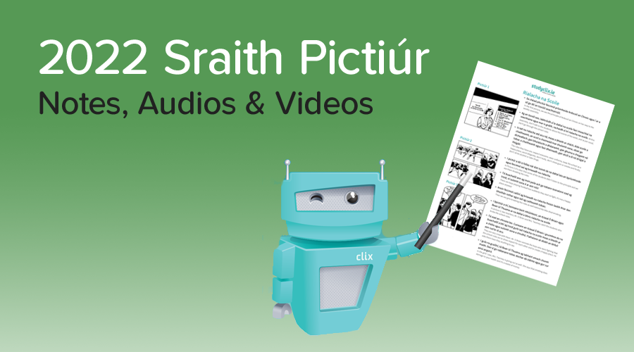 Banner of Sraith Pictiúr 2022 - Notes, Videos and Audios Now Available