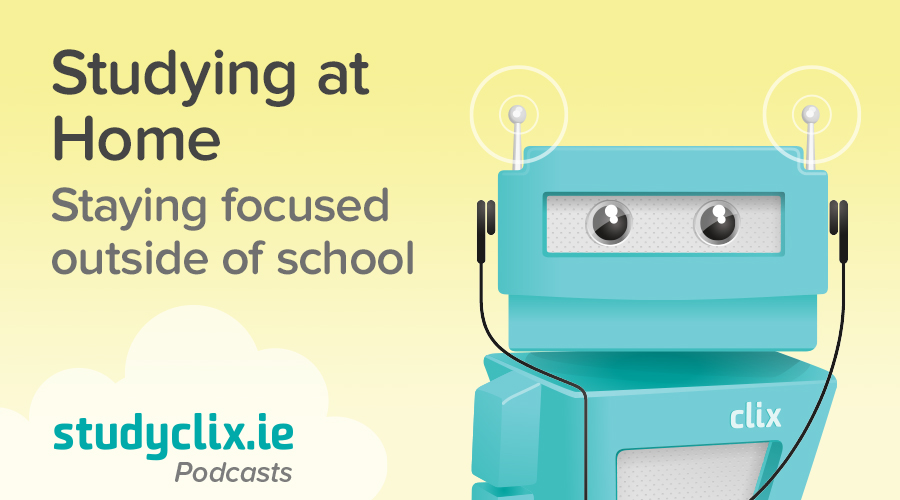 Banner of Podcast: Tips For Studying From Home