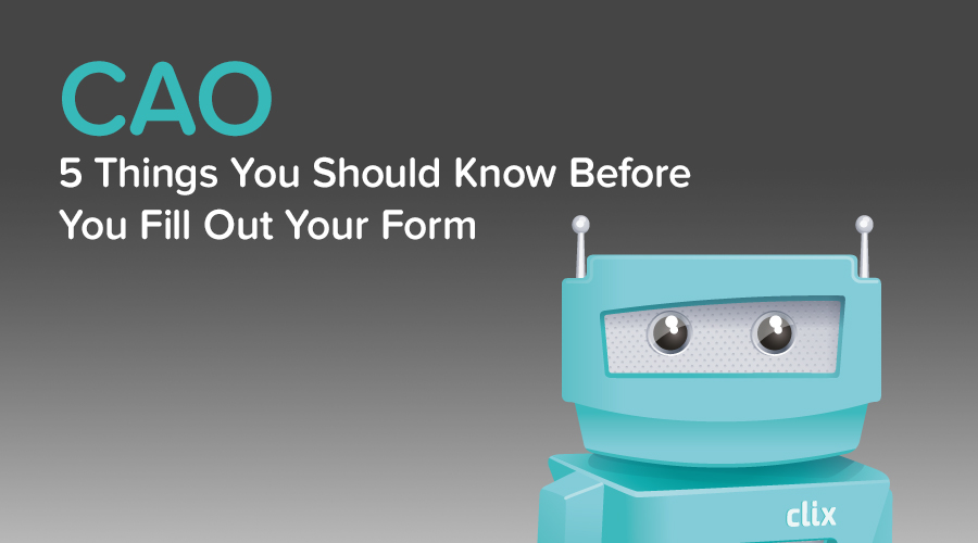 Banner of CAO Application Process - Five Things Every 6th Year Should Know