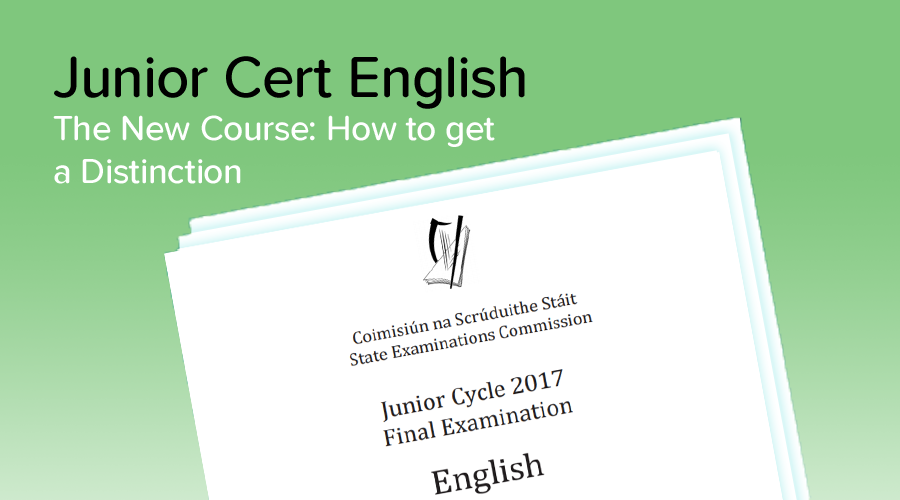 Banner of How I got a Distinction in New Junior Cycle English