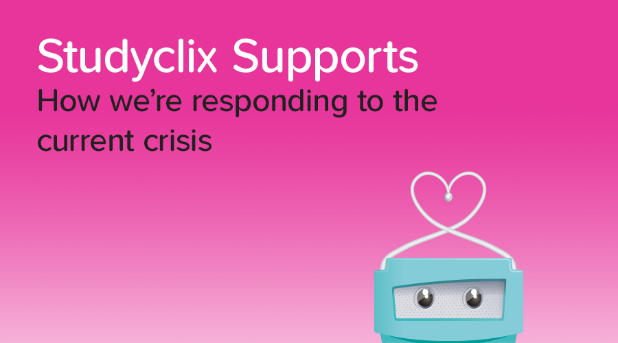 Banner of Studyclix's COVID-19 Response