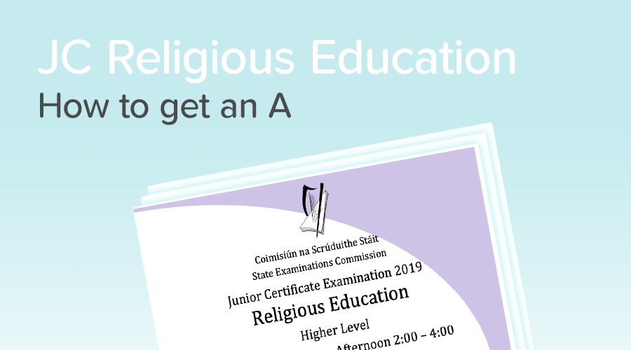 Banner of How to get an A in Junior Cert Religious Education