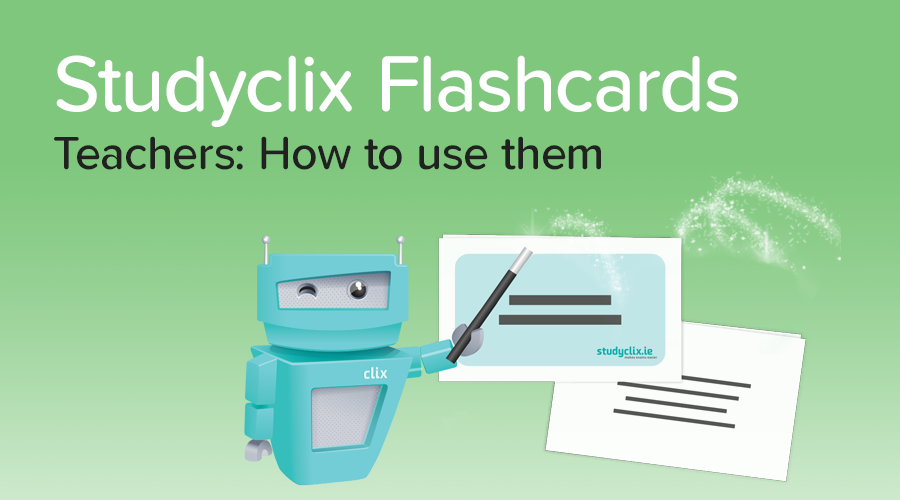 Banner of Introducing: Studyclix Flashcards for Teachers
