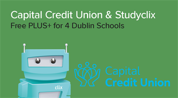 Thumbnail of Capital Credit Union / Studyclix Partnership: Free Studyclix PLUS+ for 4 Dublin Schools!
