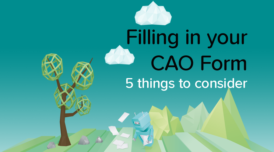 Banner of 5 things You Should Know Before You Fill In Your CAO Form