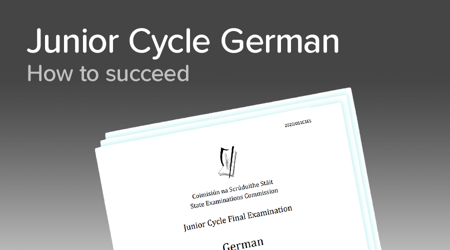 Banner of How to get top marks in Junior Cycle German
