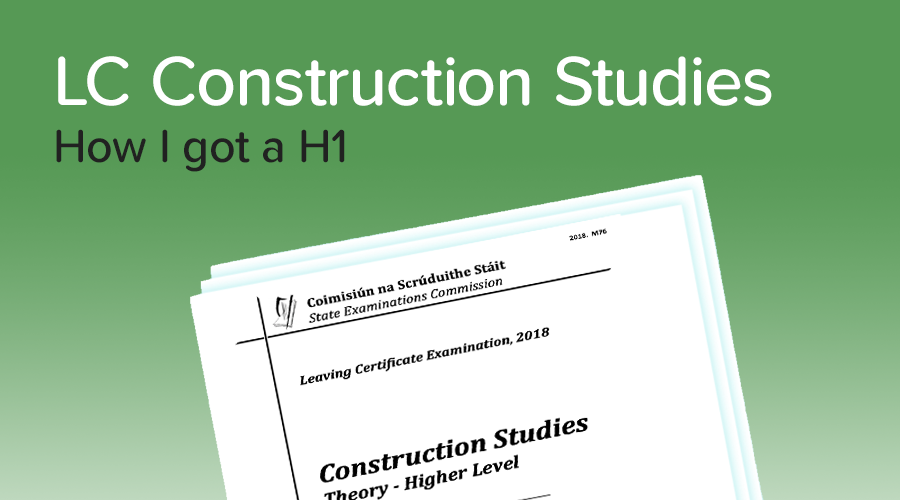 Banner of How to get a H1 in Construction Studies