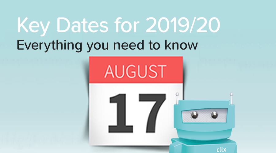 Banner of Key Dates for the 2019/20 School Year